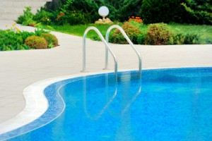 Fiberglass Swimming Pool with stair