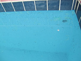 Four Days After We Filled It The Paint Failed Miserably Failure Was Not Limited To Just A Few Isolated Spots In Pool Entire Job Is